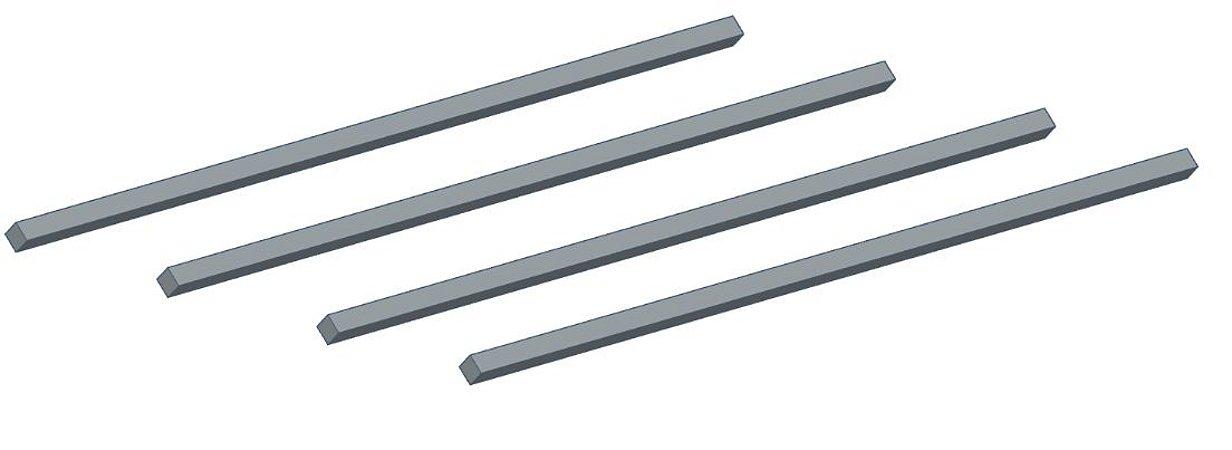 Modelix 230 - Conjunto Eixo Quadrado 150mm