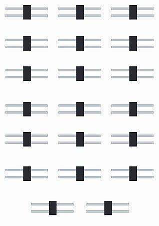 Modelix 495  - Conjunto Garfo Conector Duplo