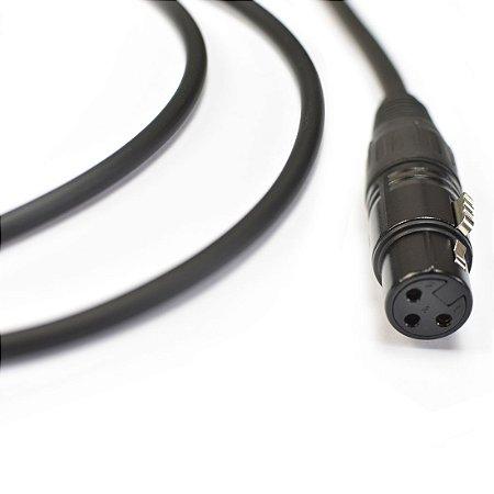 Cabo para Microfone 0,20mm Preto Emborrachado XLRm x XLRf Ninja 20ft/ 6,10m - Santo Angelo