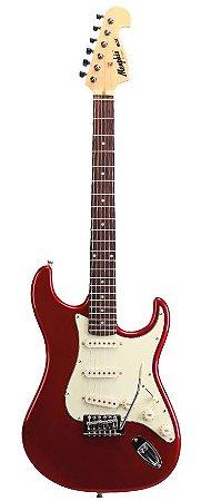 Guitarra Stratocaster MG-32 - MR (Metalic Red - Escala Escura - Escudo Mintgreen) - Memphis