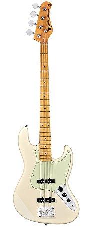 Contrabaixo Elétrico 4 Cordas Jazz Bass TW-73-VW (Vintage White - Escala Clara - Escudo Mintgreen) - Tagima