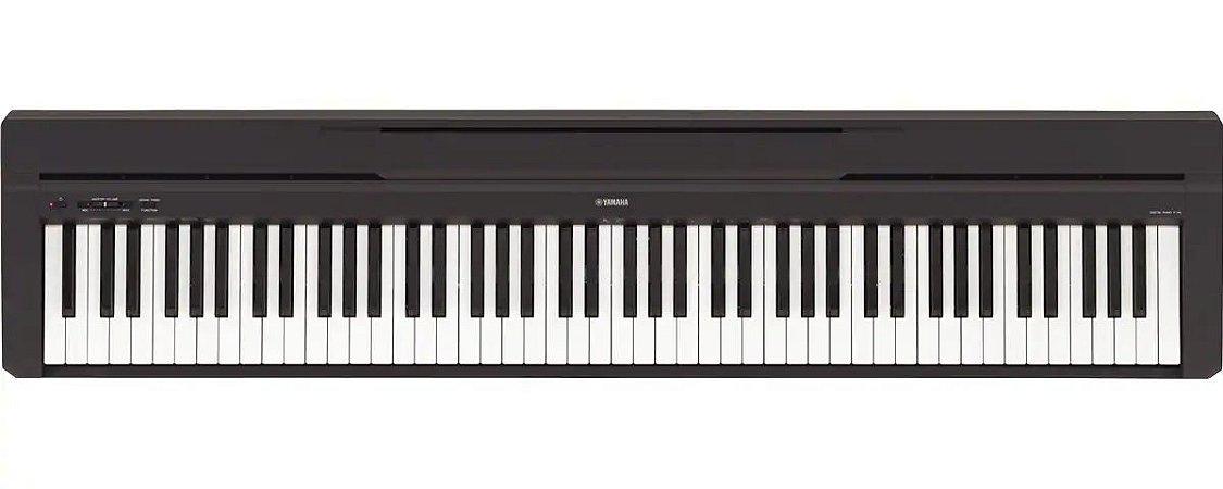 Piano Digital 88 Teclas Pesadas P45B Com Fonte e Pedal de Sustain - Yamaha