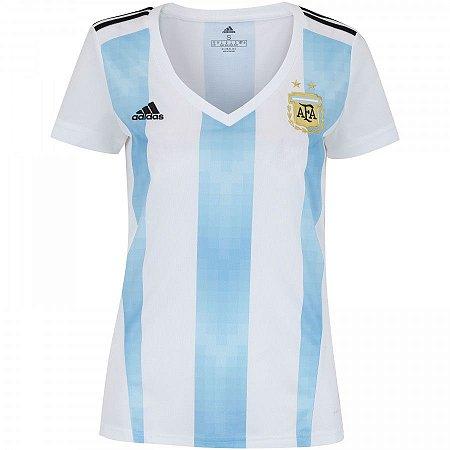 383b35315f30f Camisa Seleção Argentina Home 2018 - s n° - Torcedor Adidas Feminina ...