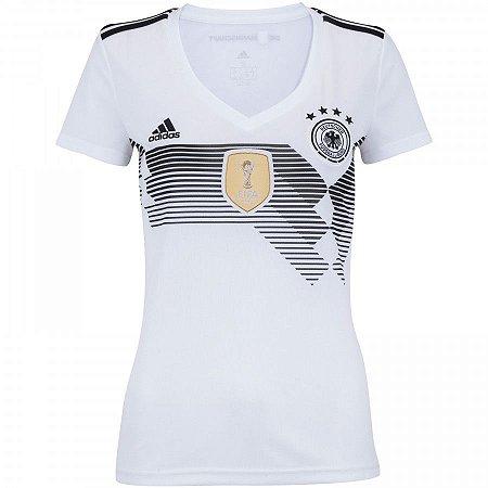 33462823c Camisa Seleção Alemanha Home 2018 - s n° - Torcedor Adidas Feminina ...