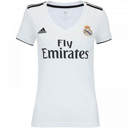 Camisa Real Madrid Home 2018 - s n° - Torcedor Adidas Feminina - GT ... b4a3e935809b1