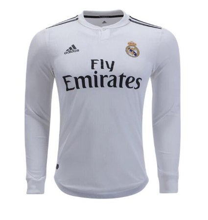 e1edafff4 Camisa Real Madrid Manga Longa Home 2018 - s n° - Torcedor Adidas Masculina