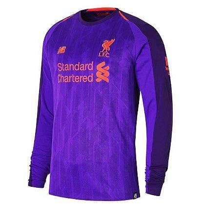 Camisa Liverpool Manga Longa Away I 18 19 - s n° - Torcedor New ... 7b37f6d4d76ce