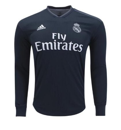 Camisa Real Madrid Manga Longa Away 2018 - s n° - Torcedor Adidas Masculina 9a7adc26f86f0