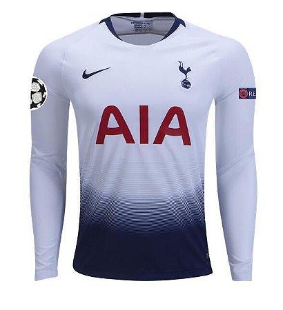 a8967f1b93 Camisa Tottenham Manga Longa Home I 18/19 - s/n° - Torcedor Nike ...