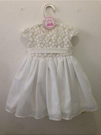 1570 Vestido BB Branco Chic Gbaby