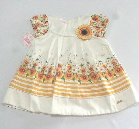 1547 Vestido infantil estampa girassol