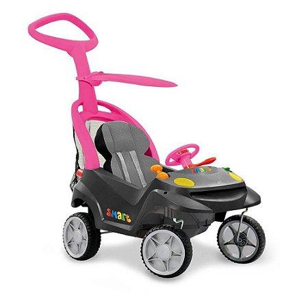 Carro Smart Baby Comfort Grafite E Rosa Bandeirante