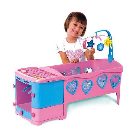 Berço Infantil Doce Sonho Rosa Magic Toys