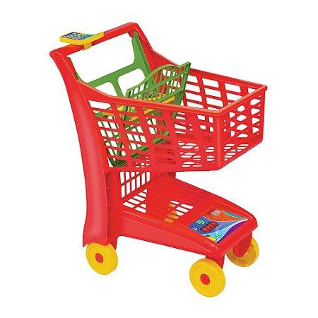 Carrinho De Compras Market Vermelho Magic Toys