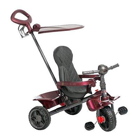 Triciclo Smart Reclinável Vinho Bandeirante