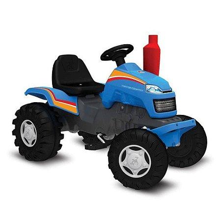 Trator a Pedal Country Azul Bandeirante