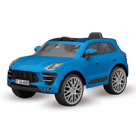 Carro Elétrico 12V Porsche Macan Azul Bandeirante