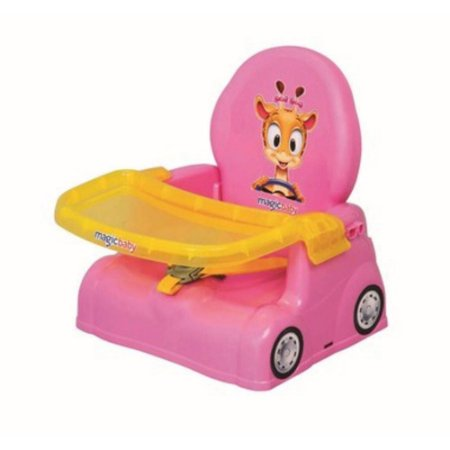 Cadeira Papinha Girafa Rosa Magic Toys