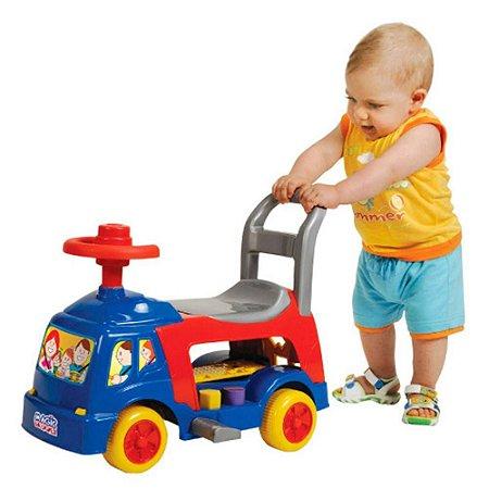 Andador Infantil 4 Em 1 Azul Magic Toys