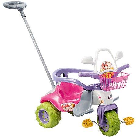 Triciclo Zoom Meg Rosa Magic Toys