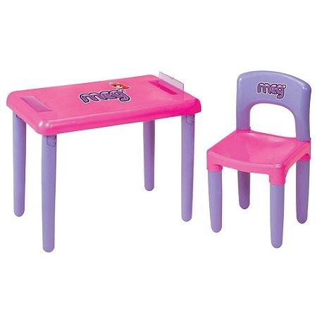 Mesa Com Cadeira Meg Rosa Magic Toys