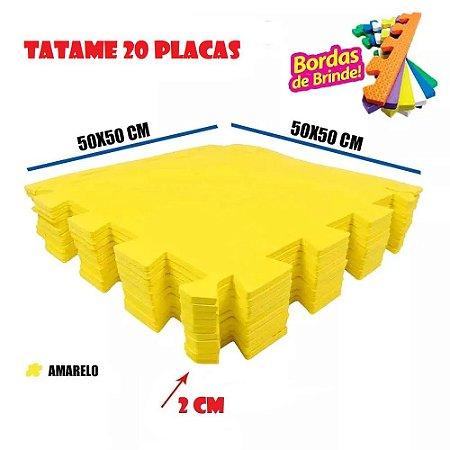 Tatames de Eva 20 Placas Amarelo 50x50 20mm