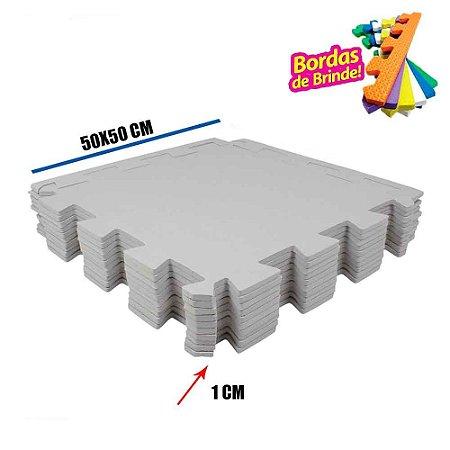 Tatames EVA 10 Placas Cinza 50x50x01 cm