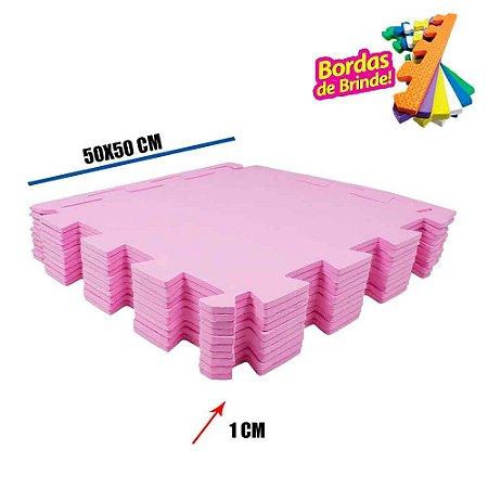 Tatames EVA 10 Placas Rosa Pink 50x50x01 cm