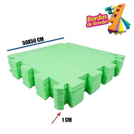 Tatames EVA 10 Placas Verde Limão 50x50x01 cm