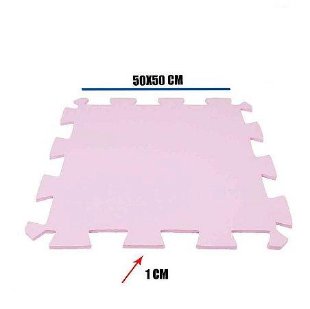 Tatame de EVA Rosa Claro 1 Un 50x50x01 cm