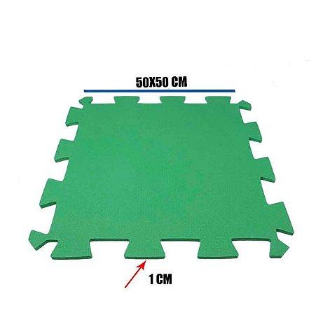 Tatame de EVA Verde Bandeira 1 Un 50x50x01 cm
