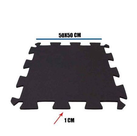 Tatame de EVA Preto 1 Un 50x50x01 cm