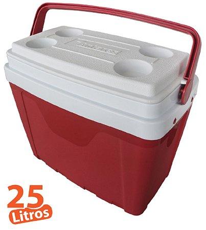 Caixa Térmica 25L Vermelha Antares
