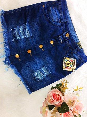 Saia Jeans Recall com Botões