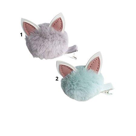 Laço infantil gatinho pompom