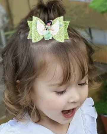Laço infantil princesas brilho