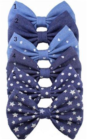 Laço infantil gravata jeans G