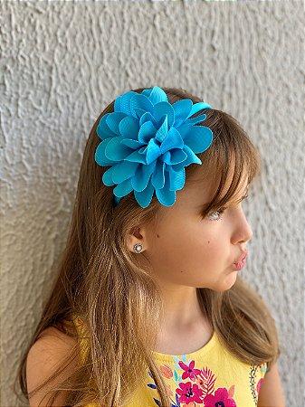 Tiara de cabelo flores gorgurão