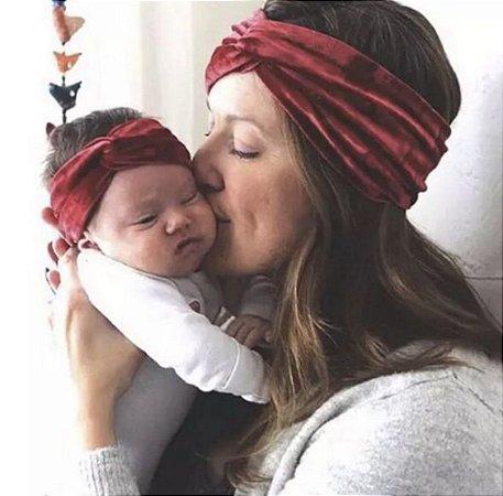 Bandana mãe e filha veludo