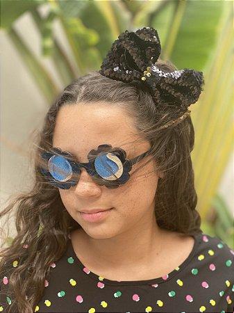 Óculos infantil flor