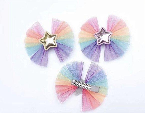 Laço infantil arco íris