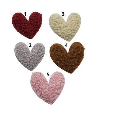 Laço infantil coração plush