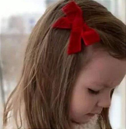 Laço infantil veludo Manu