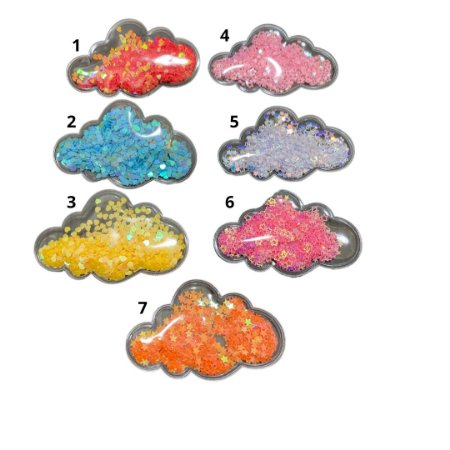 Laço infantil vinil nuvem