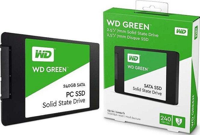 HD SSD 240gb WD Green 540mb/s Sata 3 2,5