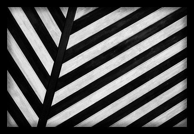 Quadro Decorativo Geométrico Zebrado