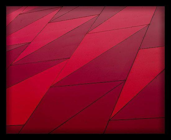 Quadro Decorativo Geométrico Vermelho