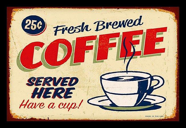 Quadro Decorativo Bebidas Coffee