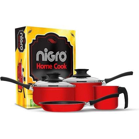 Jogo de Panelas Antiaderente BIOflon Home Cook 4 PÇ Nigro