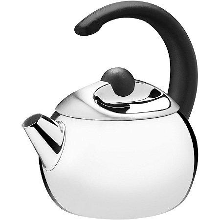 Chaleira Tramontina Inox S/ Apito Coffee & Tea 1,3L Preto